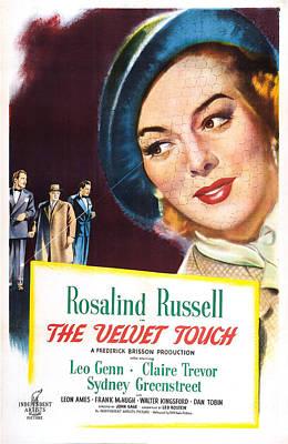 The Velvet Touch, Us Poster, From Left Art Print by Everett
