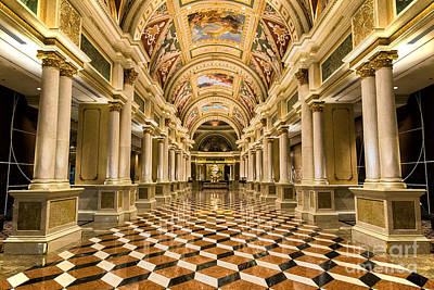 Photograph - The Venetian Casino Main Entrance by Aloha Art