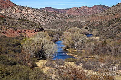 Photograph - The Verde River In The Verde Canyon Arizona by Ron Chilston