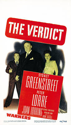 Films By Don Siegel Photograph - The Verdict, Us Poster Art, From Left by Everett