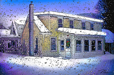Digital Art - The Vermont Homestead by Nancy Griswold