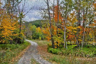 Mood Painting - The Vermont Rural Life by Deborah Benoit