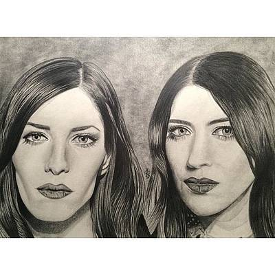 Drawing - The Veronicas by Angelee Borrero