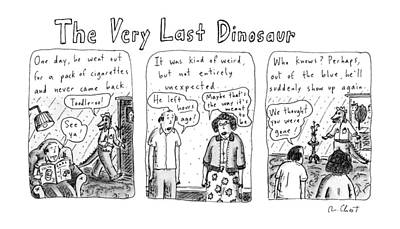 Dinosaur Drawing - The Very Last Dinosaur: Title by Roz Chast