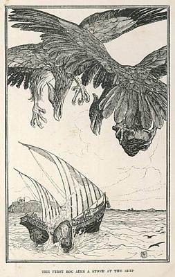 The Vessel Of Sindbad The  Sailor Art Print