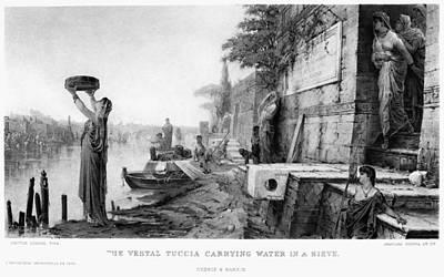The Vestal Tuccia Art Print by Granger