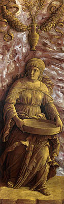 The Vestal Virgin Tuccia With A Sieve Art Print by Andrea Mantegna