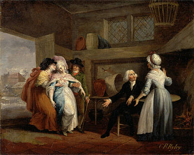 Shawl Painting - The Vicar Of Wakefield, Vol. II, Chap. IIi The Return by Litz Collection