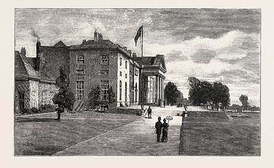Phoenix Drawing - The Viceregal Lodge In Phoenix Park, Dublin Castle Ireland by Irish School