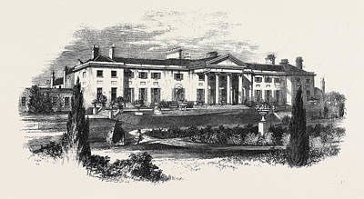 Phoenix Drawing - The Viceregal Lodge Phoenix Park Dublin The Queens Visit by Irish School