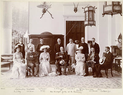 Deen Photograph - The Viceregal Party by British Library