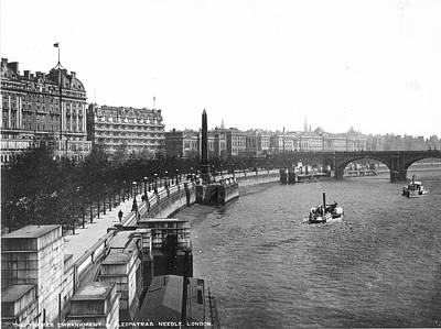 Victoria Embankment Photograph - The Victoria Embankment London, England by Granger