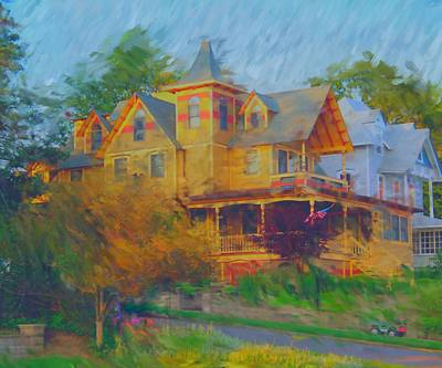 Painting - The Victorian House by Rick Todaro