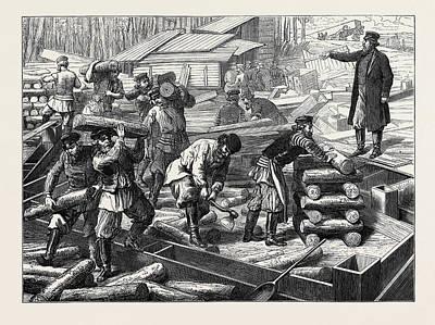 Russian Art Drawing - The Vienna Universal Exhibition Russian Workmen Beginning by English School