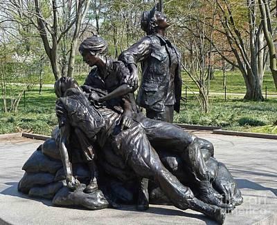 Photograph - The Vietnam Women's Memorial by D Hackett