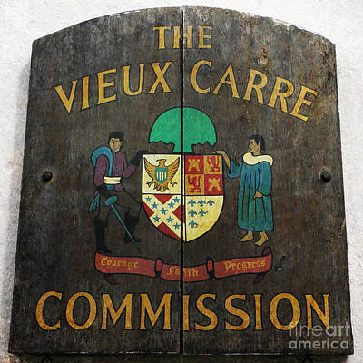 Photograph - The Vieux Carre Commission by Valerie Reeves