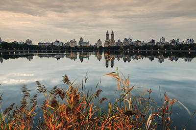 Photograph - The View Across Jko Reservoir Central Park New York by Silvio Ligutti