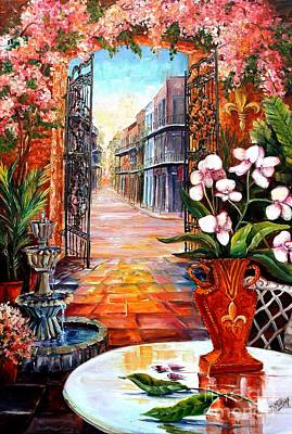 The View From A Courtyard Art Print by Diane Millsap