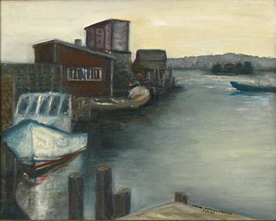 Painting - The View From Fishermen's Co-op by Michael Anthony Edwards