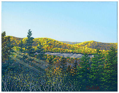 Hawk Hill Painting - The View From Summit Ledges by Dan Shefchik