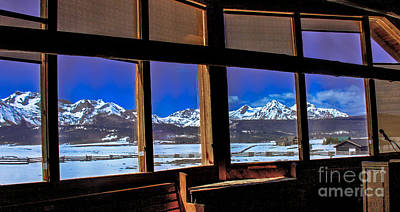 The View From The Sawtooth Valley Meditation Chapel Print by Robert Bales