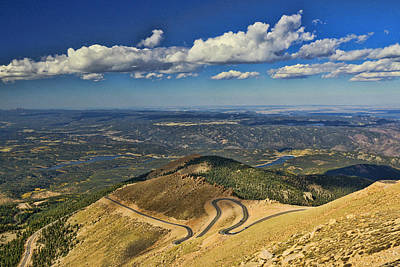 Photograph - The View From The Summit Of Pikes Peak by Allen Beatty