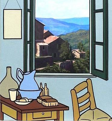 Painting - The View From Vincent's Room. Sold by Kenneth North