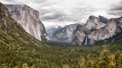 El Capitan Digital Art - The View Painted by Patricia Stalter