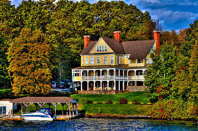 Photograph - The Villa Nirvana Mansion On Lake George by David Patterson