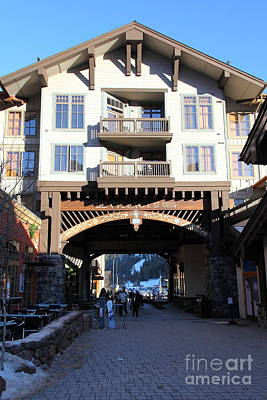 The Village At Squaw Valley Usa 5d27700 Art Print