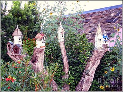 Photograph - The Village - Birdhouses by Ella Kaye Dickey