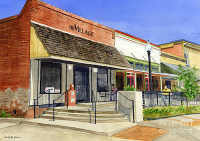 Garden District Painting - The Village by Hailey E Herrera
