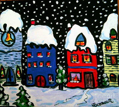 Painting - The Village  by Joyce Gebauer