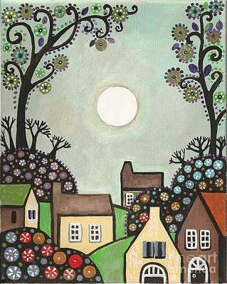 Architcture Painting - The Village by Margaryta Yermolayeva