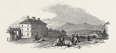 Granite Drawing - The Village Of Dundrum. Mourn Mountains In The Distance by English School