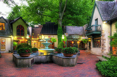 The Village Of Gatlinburg Art Print by Greg and Chrystal Mimbs