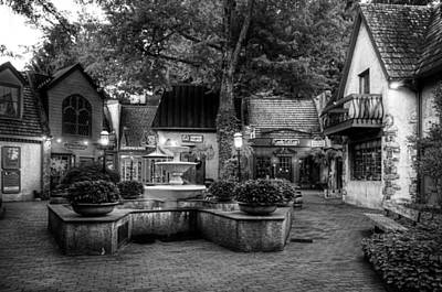 The Village Of Gatlinburg In Black And White Art Print