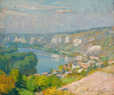 Painting - The Village Of Les Andelys by Emanuel Phillips Fox
