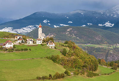 Large Format Photograph - The Village Of Mittelberg (monte Di by Martin Zwick