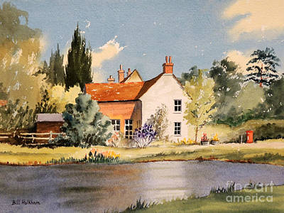 Village Life Painting - The Village Pond - Coleshill Buckinghamshire by Bill Holkham