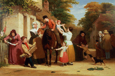The Village Post Office Art Print by William Frederick Witherington