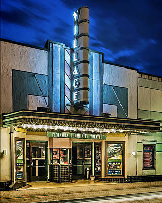 Photograph - The Village Theater Two by Jerry Gammon