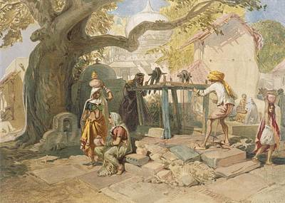 Warm Drawing - The Village Welll, From India Ancient by William 'Crimea' Simpson