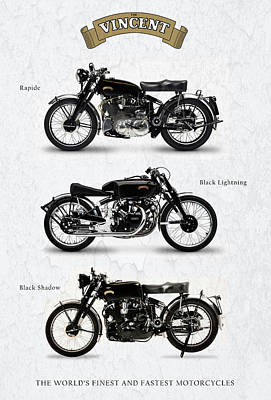 Shadow Photograph - The Vincent Collection by Mark Rogan