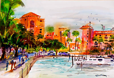 Tropical Fish Painting - The Vinoy St. Petersburg Florida by Joseph Giuffrida