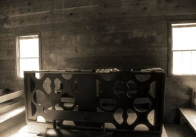 Photograph - Altar At Cades Cove Methodist Church by Dan Sproul