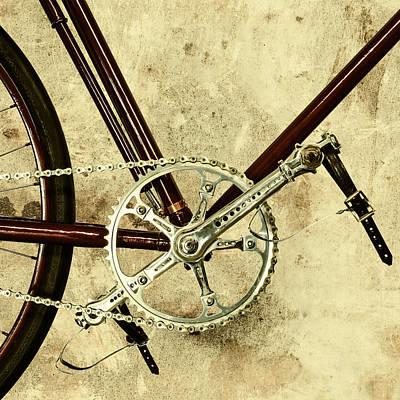 The Vintage Bicycle Gears Art Print