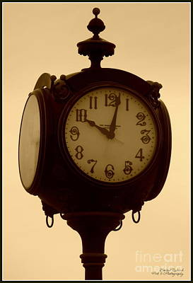 Photograph - The Vintage Town Clock by Bobbee Rickard