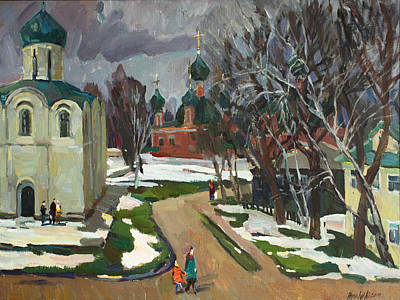 The Violet Mood Of Spring Original by Juliya Zhukova
