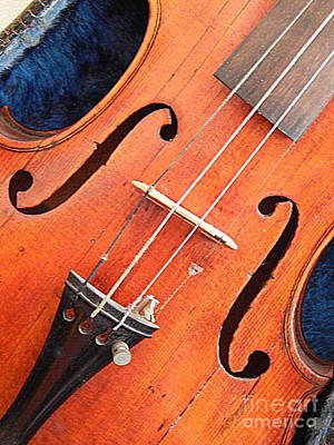 Music Royalty-Free and Rights-Managed Images - The Violin And The Memory Of Music In New Orleans Louisiana by Michael Hoard
